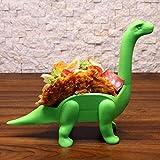 Fcostume Taco Holder - Der ultimative prähistorische Taco-Ständer für Jurassic Taco-Dienstagen und Dinosaurierpartys (Grün)