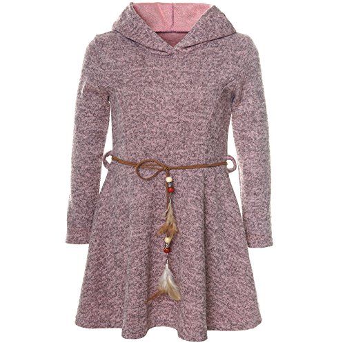 BEZLIT Mädchen Kleid Kostüm Kapuze Peticoat Festkleid Langarm 21578, Farbe:Rosa, Größe:140