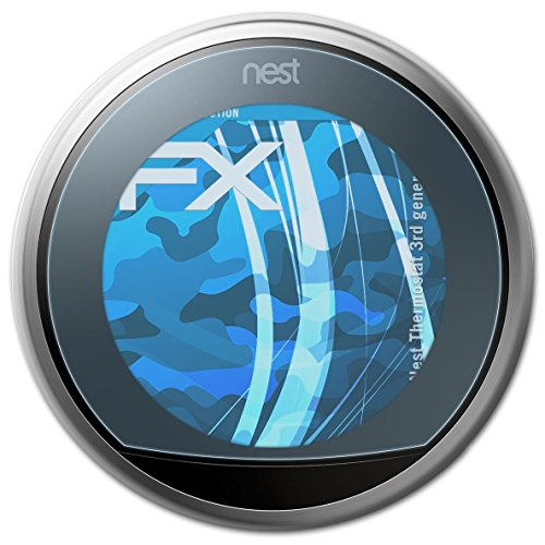 atFoliX Screen Protection Film for Nest Thermostat (3rd generation) Screen Protector - 2 x FX-Clear crystal clear Protector Film