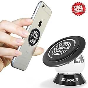Supporto magnetico per auto–360cruscotto del telefono per auto–universale per telefono cellulare o tablet con base ultra forte magnete
