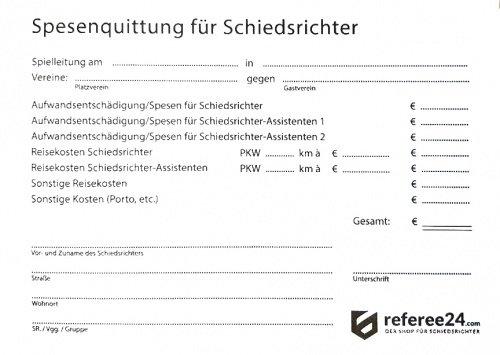 referee24 Schiri-Quittungsblock