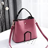 OME&QIUMEI Bucket Bag Tasche Tasche Tasche Casual Schultertasche Pulver