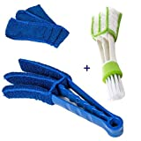 Fenster Blind Duster Pinsel Microfaser Shutters Cleaner Mit Zwei Abnehmbaren Sleeves.Cleaning Pinsel, Fenster Blind Cleaner, Mini Blind Duster Keyboard Cleaner für Haus, Auto, Büro Computer Reinigung (2 Stück)