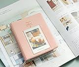 ningteng 64Taschen Mini Album Speicher für Polaroid Foto Fujifilm Instax (Rosa)