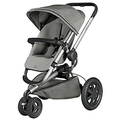 Quinny Buzz Xtra 3 Wheel Pushchair, Silver Frame, Grey Gravel  Bugaboo