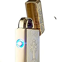 40% off Quality Electric Lighter Double Arc USB Plasma Torch Lighter Rechargeable Windproof Flamless Cigarette Cigar Puls Lighter (No Gas for Men Woman Birthday Gift )