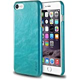 """iPhone 8/7 Case, Insten Premium Leather Case Slim Fit Anti-Slip Classic Protective Back Cover for Apple iPhone 8/7 (4.7""""), Turquoise Blue"""