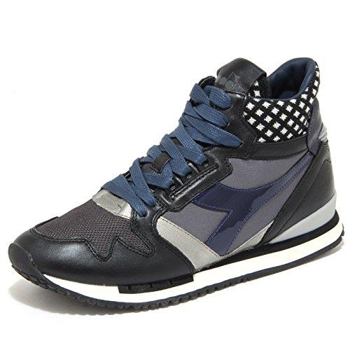 701b1e30bd3ed 6446N sneakers uomo DIADORA HERITAGE nero blu grigio sneakers shoes man  40