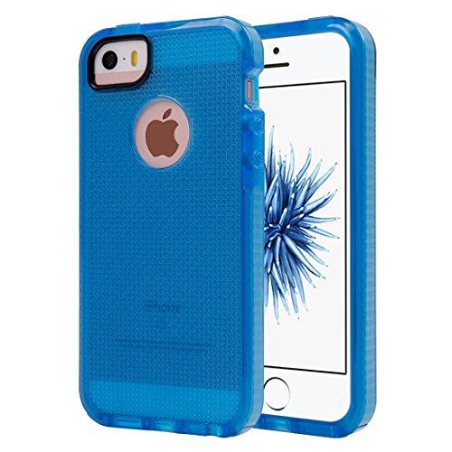 Wkae Case & Cover Pour iPhone 5 &5s &SE Tissage Texture étui de protection transparent TPU ( Color : Blue ) Dark Blue