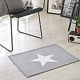 Lindong Badematte Stern Motiv rutschfester weich Teppich Fußmatte Küchenläufer Duschmatte für Badezimmer Wohnzimmer Kinderzimmer 40x60cm