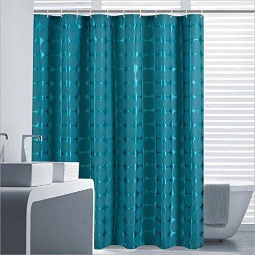 Dark Green Duschvorhänge rundes Muster Polyester Stoff Wasserdichte Dickere Erhöhter Zuleitung , 180cm*180cm (Undurchsichtig Schlüsselloch)