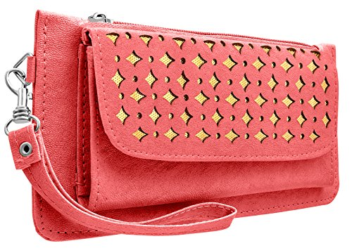 Tap Fashion Fancy Stylish Elegant Pink Synthetic Handmade Wallet/ Clutch/ Purse for Girls and Women.  available at amazon for Rs.298