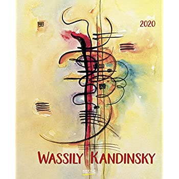 Wassily Kandinsky 2020: Kunstkalender mit Werken des Künstlers Wassily Kandinsky. Großer Wandkalender mit abstrakten Bildern aus dem Expressionismus. Format: 45,5 x 55 cm, Foliendeckblatt
