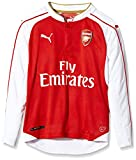 Puma Maillot Longues Manches AFC Kids Home Replica Sponsor Logo T-shirt 13-14 ans High Risk Red/White/Victory Gold