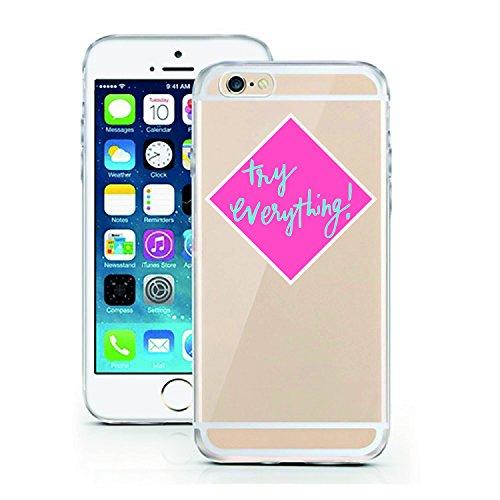 iPhone 7 Hülle von licaso® für das Apple iPhone 7 aus TPU Silikon Muster Attitude is Everything XOXO Style Fashion Design ultra-dünn schützt Dein iPhone 7 & ist stylisch Schutzhülle Bumper in einem (i try everything!