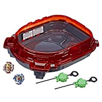 BEYBLADE Burst Turbo Slingshock Rail Rush Battle Set -- Complete Set with Burst Beystadium, Battling Tops, & Launchers -- Age 8