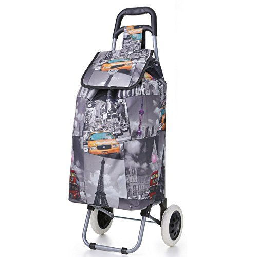 Hoppa 47 litre Lightweight Folding Shopping Trolley - Cities