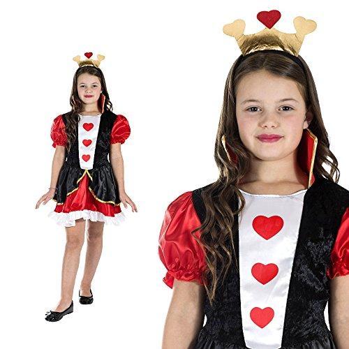 Monster Queen of Hearts Kostüm Größe S Kinder 4 bis 6 Jahre Herzkönigin Karneval 50133