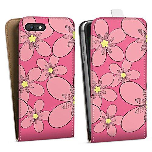 Apple iPhone X Silikon Hülle Case Schutzhülle Flower Muster Ornament Downflip Tasche weiß