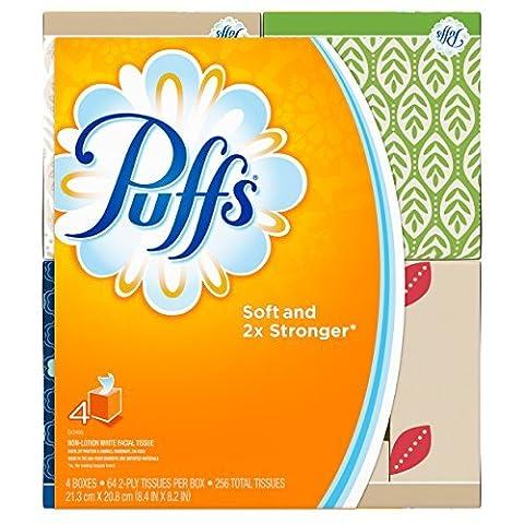 Puffs Basic Facial Tissues, 24 Cube Boxes (64 Tissues per Box) by Puffs