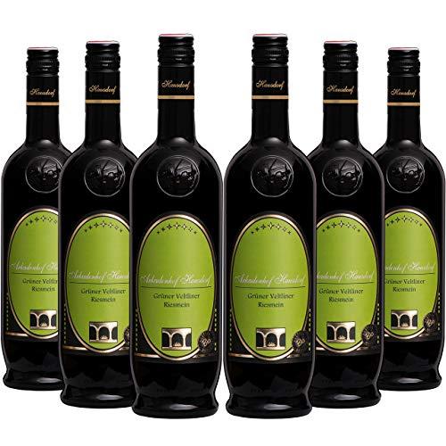 Bio Grüner Veltliner Riesmein 2018 (6x 0.75l) | Weißwein | Bioweingut Arkadenhof Hausdorf | Österreichischer Qualitätswein Trocken | Wagram | ✔ bio ✔ vegan ✔ histaminfrei ✔ handgelesen ✔ Gold-prämiert
