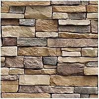 ASDFGH Wall 10M 3D Etiqueta engomada del Papel Pintado de ladrillo Efecto de Piedra Impermeable Autoadhesivo hogar del Papel Pintado de la decoración de la Sala (Dimensions : 10mx45cm)