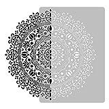 Wiederverwendbare Wandschablone aus Kunststoff // Durchmesser 89cm // Geometrisch - Mandala #1 - Blume // Muster Schablone Vorlage