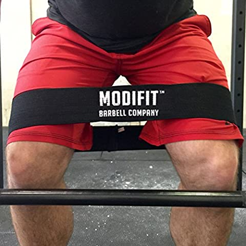 ModiFit Black Hip Band Circle - Glute Activation Band Heavy Elasticated Cotton Perfect For Warm Ups Before Weightlifting or CrossFit Workout and Strongman or Powerlifting Training. 14