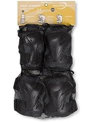 Rollerblade Pro Junior 3 - Juego de protectores de articulaciones juvenil negro antracita / negro Talla:extra-small