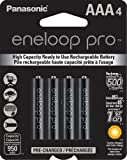 Panasonic BK-4HCCA4BA eneloop Pro AAA New High Capacity Ni-MH Pre-Charged Rechargeable Batteries, 4 Pack
