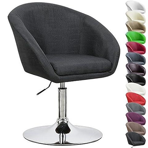 WOLTU BH61sz-1 1x Barstool Height Adjustable Bar Chair Linen Lounge