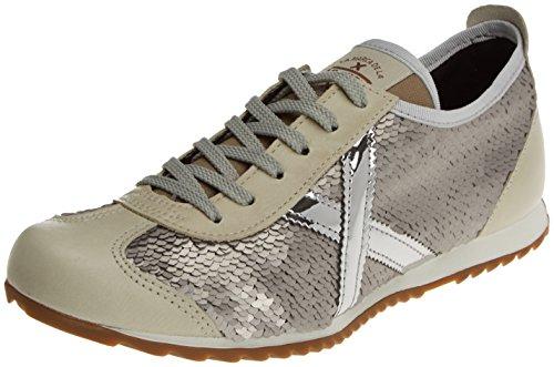 Munich Osaka, Zapatillas para Mujer, Plateado (Lentejuelas), 37 EU