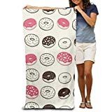 DEFFWBb Beach Towel Chocolate And Strawberry Doughnut Polyester Velvet Beach Towels 31.551.2 inch