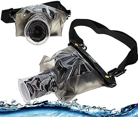 Navitech housse étui étanche pour appareil photo numérique avec lentille extérieure, compatible pour Canon PowerShot SX410