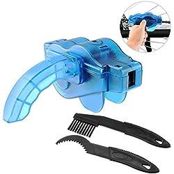 lifi nsky Cadena de bicicleta dispositivo, limpiador limpieza Scrubber Pincel de herramientas en Juego con piñón Cepillo, 2pares Guantes de látex, rápida Limpia Cadena limpiador Herramienta Cadena de bicicleta limpieza