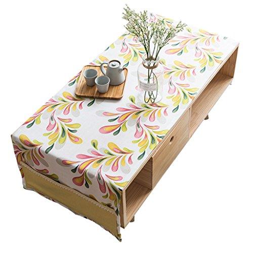 Salon nappe moderne minimaliste cache-poussière fleur motif blanc ( Color : A Pink , Size : 60*160cm )