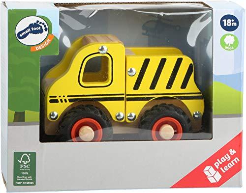 small foot 11096 Einsatzfahrzeug Baufahrzeug aus Holz, mit Ladefläche und gummierten Rädern, ab 18 Monaten - 5