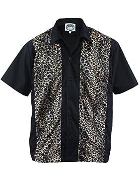 Aloha-Beachwear –  Camicia Casual  – Stampa animalier – Uomo