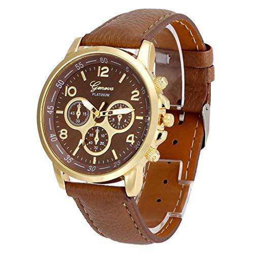 Jia Meng Paar Genf Quarzuhr, Unisex Casual Genf Kunstleder Quarz Analog Armbanduhr Uhren -