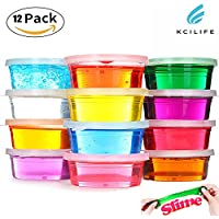 Kids Toys Slime Children Educational Toys Childrens Toys for Boys Gifts & Girls Gifts Birthday Gifts and Adult Colouring for Adults Kcilife® Pack of 12 Color