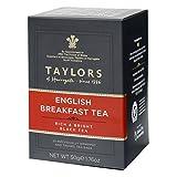 Taylors English Breakfast Tea Reich und hell schwarzer Tee / Té Nero - 2 x 20 individuell verpackt und getaggte Teebeutel (100 Gramm)