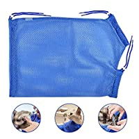 AFASOES Cat Grooming Mesh Bag Pet Cat Washing Bath Bag Adjustable Cat Cleaning Bag Multifunctional Cat Restraint Breathable Bag Avoid Scratches & Bites for Bath Injection Nail Clipping Ear Clean