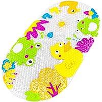 Yolife Baby Cartoon Duck Badematte, Waschbar, Umweltfreundlich PVC, BPA und Phthalate frei, Badewannenmatten mit Saugnäpfen, Safe für die Dusche