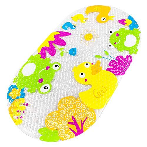 Badewannenmatte Baby Wanneneinlage Yolife Schönen Optik Anti-Rutsch Badematte Karikatur Enten Entwurf Massage Dusche Badematte für Baby Kinder 39 x 69 cm