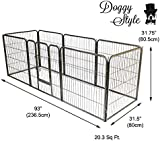Doggy Style Heavy Duty Puppy Play Pen Playpen 8 x Panel Whelping Pen Pens 4 Sizes in this add EXTRA TALL (MEDIUM, SILVER)