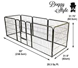 Doggy Style Heavy Duty Puppy Play Pen, Medium, Silver, Pack of 8