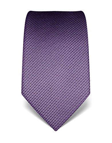 Vincenzo Boretti Herren Krawatte reine Seide gemustert edel Männer-Design gebunden zum Hemd mit Anzug für Business Hochzeit 8 cm schmal/breit lila (120 Seide)