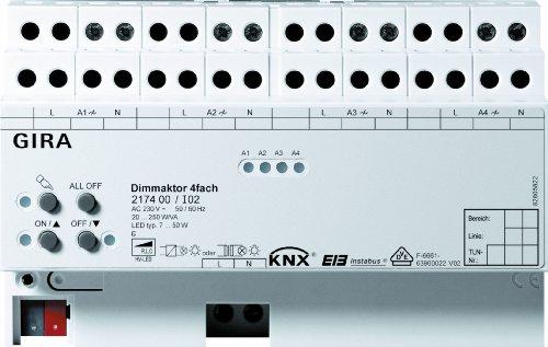 Preisvergleich Produktbild Gira 217400 Universal Dimmaktor 4-fach 4 x 250 W KNX EIB REG
