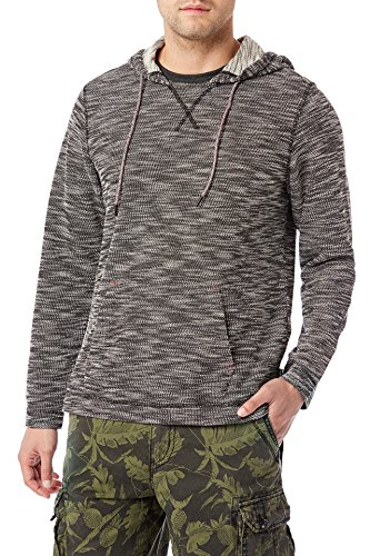 UNIONBAY Men's Long Sleeve French Terry Pullover Hoodie Sweatshirt, New Black, Large (Long Sleeve Terry Hoodie)