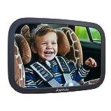 Rücksitzspiegel für Babys aus bruchsicherem Material, Auto Rückspiegel für Kindersitz und Babyschale, 360°...